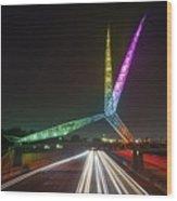 Skydance Bridge Okc Wood Print