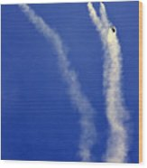 Skydivers Wood Print