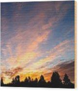 Skyfire Wood Print