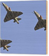 Skyhawk Fighter Jet In Formation  Wood Print