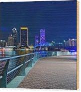 skyline and river coast scenes in Jacksonville Florida Wood Print