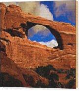Skyline Arch Wood Print