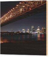 Skyline Bridge Wood Print
