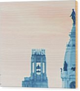 Skyline - Broad Street Philadelphia Wood Print