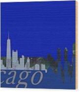 Skyline Chicago 4 Wood Print