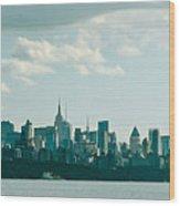 Skyline From Gwb 2 Wood Print
