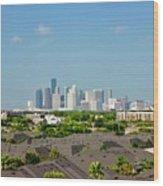 Skyline Houston Wood Print