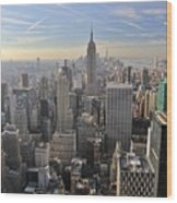 Skyline New York City  Wood Print