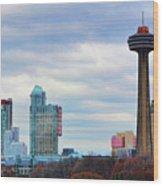 Skyline Niagara Wood Print