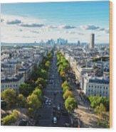Skyline Of Paris, France Wood Print