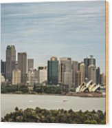Skyline Of Sydney Downtown  Viewed From Taronga Hill, Australia Wood Print