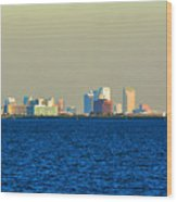 Skyline Of Tampa Bay Florida Wood Print