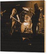 Skynyrd Sf 1975 #10 Crop 2 Enhanced In Amber Wood Print