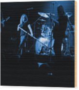 Skynyrd Sf 1975 #10 Crop 2 Enhanced In Blue Wood Print