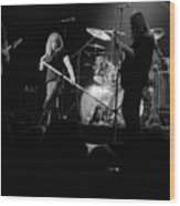 Skynyrd Sf 1975 #10 Crop 2 Enhanced In Bw Wood Print