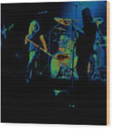 Skynyrd Sf 1975 #10 Crop 2 Enhanced In Cosmicolors Wood Print