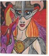 Skyrim Queen Wood Print