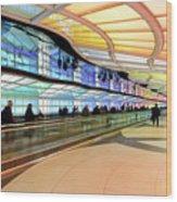 Sky's The Limit-underground Walkway Wood Print