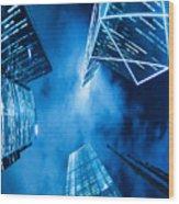 Skyscraper In Hong Kong Wood Print