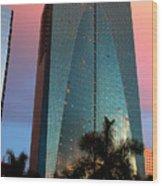 Skyscraper In Miami Wood Print