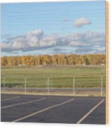 Skyview Portland Airport Oregon. Wood Print