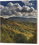 Skyway Clouds Wood Print
