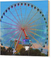 Skywheel Wood Print
