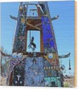 Slab City Museum Tower Wood Print