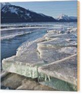 Slabs Of Ice Wood Print