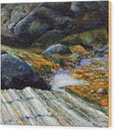 Slack Tide Wood Print