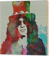 Slash Guns N' Roses Wood Print by Naxart Studio