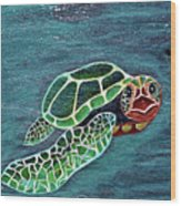 Slate Painting Wood Print
