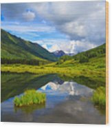 Slate River At Crested Butte Colorado Wood Print