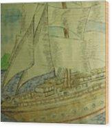 Slave Ship Wood Print