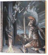 Slay The Gorgon Wood Print