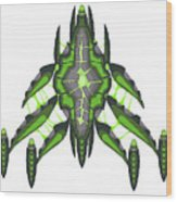 Slee-warship Wood Print