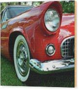 Sleek Red Wood Print