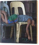 Sleep 3 Wood Print