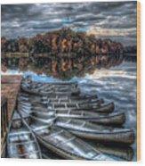 Sleep Canoes Warrenton Va 2012 Wood Print
