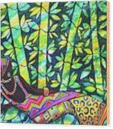 Sleep To Dream Silkpainting Belize Wood Print