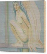 Sleeping Angel Wood Print