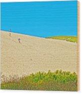 Sleeping Bear Dune Climb In Sleeping Bear Dunes National Lakeshore-michigan Wood Print