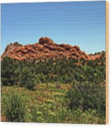 Sleeping Giant At The Garden Of The Gods Wood Print