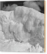 Sleeping Ice Giant Wood Print