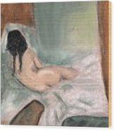 Sleeping In The Nude Wood Print