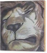 Sleeping King Wood Print