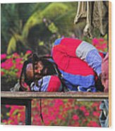 Sleeping Rasta-st Lucia Wood Print