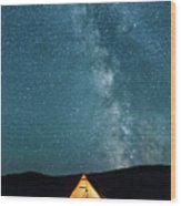 Sleeping Under The Stars Wood Print