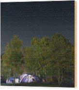 Sleeping Under The Stars Wood Print