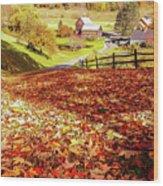 Sleepy Hollow - Pomfret Vermont-1 Wood Print